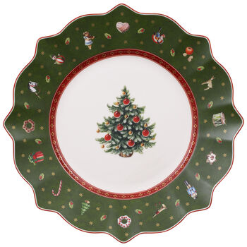 Toy's Delight Salad Plate, Green