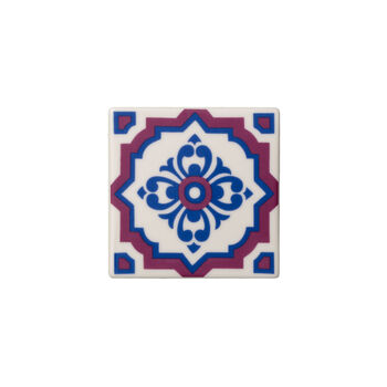 Table Accessories Coaster Set 2 : Indigo Caro 4.25 in