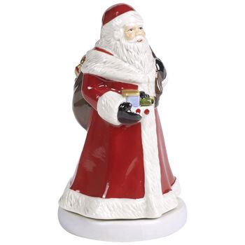 Nostalgic Melody Turning Santa Music Figurine 3.5x3.25x6 in
