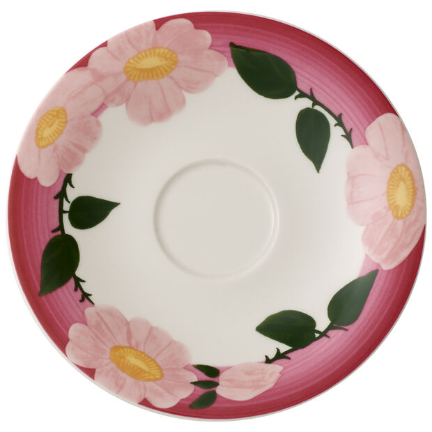 Rose Sauvage Framboise Breakfast Cup Saucer 6.25 in, , large