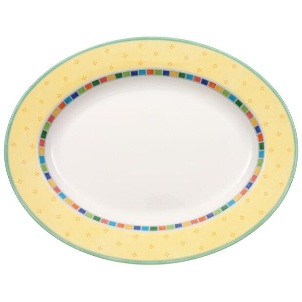 Twist Alea Limone Oval Platter 13 1/4 in, , large