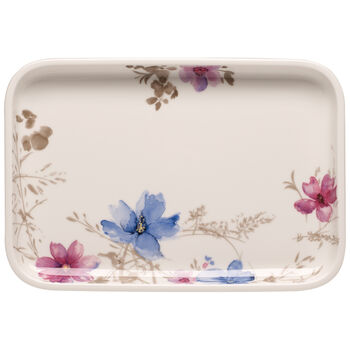 Mariefleur Gris Baking Dishes Rectangular Serving Plate/Lid 12.5 in
