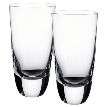 American Bar - Straight Bourbon Highball Glasses, Set of 2 6 in