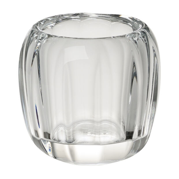 Coloured Delight  Small Tealight Holder : Clear 2.75 in, , large