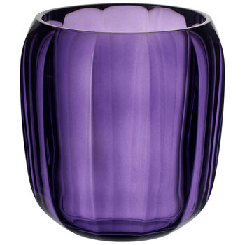 Coloured DeLight Hurricane Lamp/Small Vase : Gentle Lilac 6 in