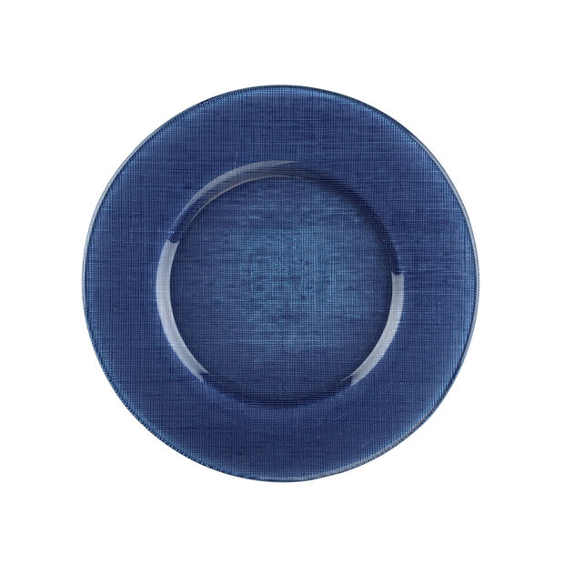 Verona Glass Charger, Deep Blue, , large