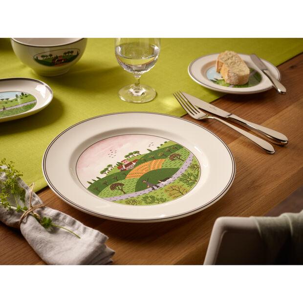 Design Naif Appetizer/Dessert Plate #6 - Boy & Girl 6 3/4 in, , large