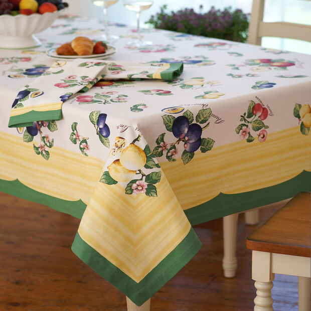 Elrene French Garden Tablecloth:Square 68 x 68 in, , large