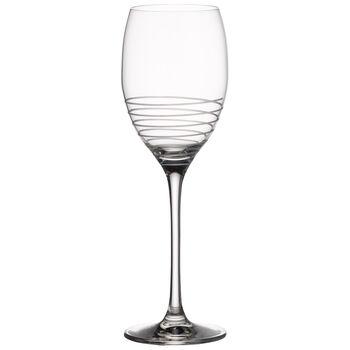 Maxima Decorated White Wine Glass, Spiral 9 1/2 in