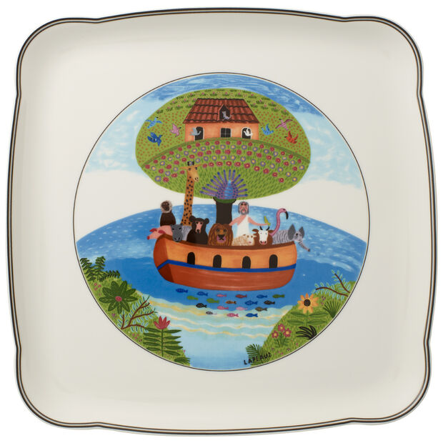 Charm & Breakfast Design Naif Square Platter 11 3/4 in, , large