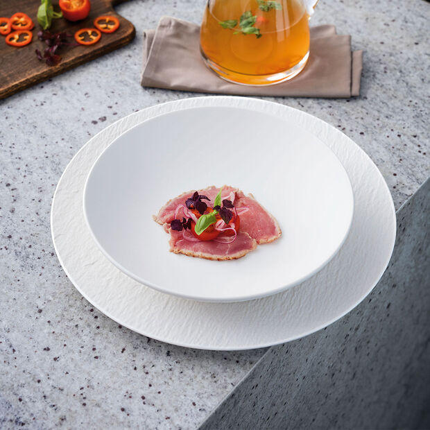 Manufacture Rock Blanc Pizza/Buffet Plate 12.5 in, , large