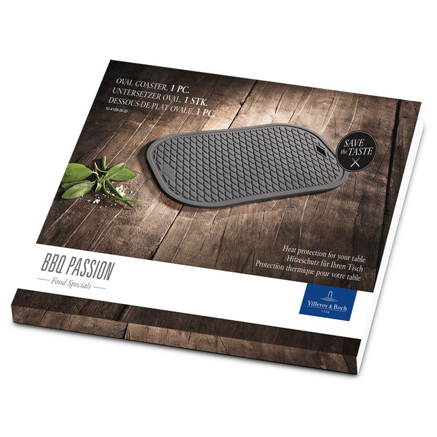 BBQ Passion Oval Coaster (Silicone) 12.5x9 in, , large