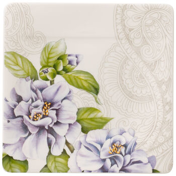 Quinsai Garden Square Bread & Butter Plate : Camellia 6.25 in