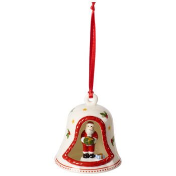 My Christmas Tree Ornament Bell : with Santa Figurine 2.25x2.25x2.75 in