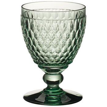 Boston Colored S/4 Goblet: Green