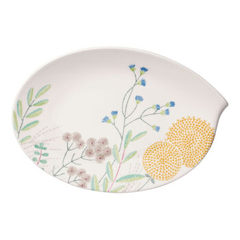 Flow Couture Oval Plate 14 in