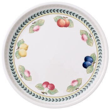 French Garden Baking Round Serving Plate/Lid 10.25 in