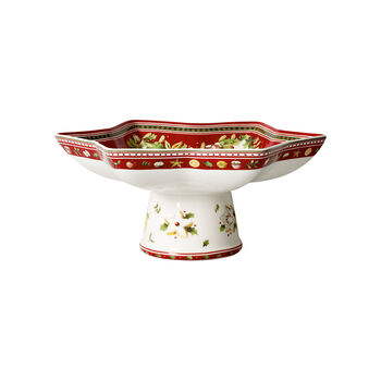 Winter Bakery Delight Footed Fruit Bowl : Star Shape 10 1/3 in