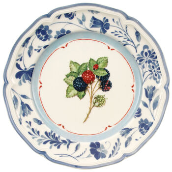 Cottage Blue Stencil Salad Plate 8 1/4 in