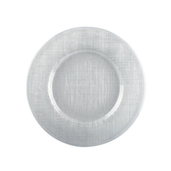 Verona Glass Charger, Clear