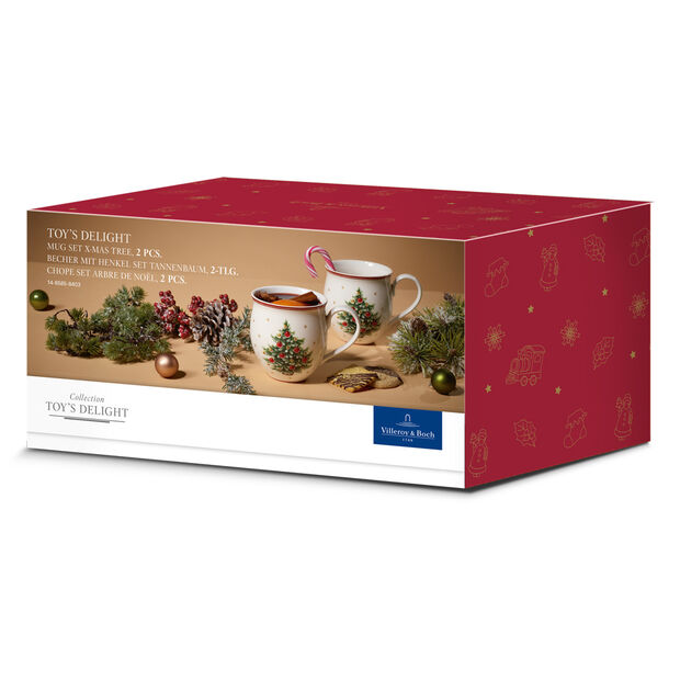 Villeroy Boch Tannenbaum.Toy S Delight Mug With Tree Set Of Two