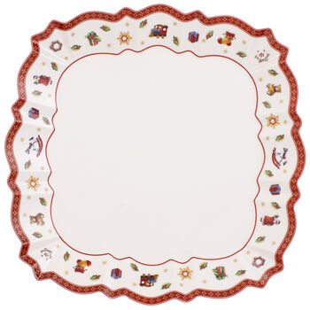 Toy's Delight Square Dinner Plate 10.25 in