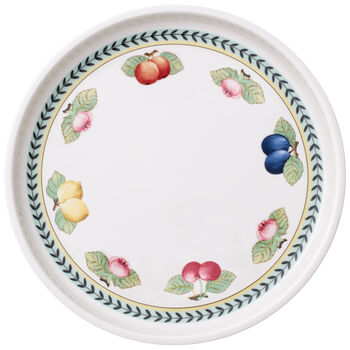French Garden Baking Round Serving Plate/Lid 11.75 in