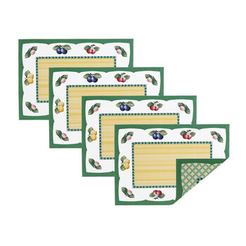 Elrene French Garden Placemats:Set of 4 14 x 20 in
