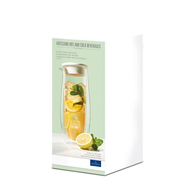 Artesano Hot Beverages Glass Carafe with Lid 33 3/4 oz, , large