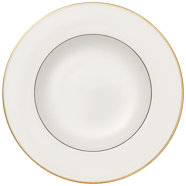 Anmut Gold Rim Soup 9.5 in, , large
