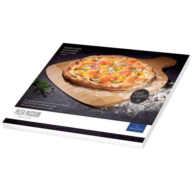 Pizza Passion Wooden Pizza Peel 17x12.5 in, , large