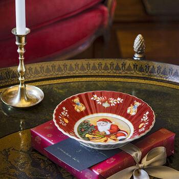 Toy's Fantasy Small Bowl : Santa Bringing Gifts 6.25 in