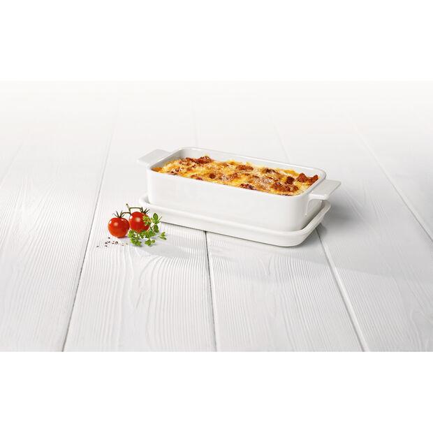 Pasta Passion Individual Lasagne Dish & Lid 9.75x5.5in, , large