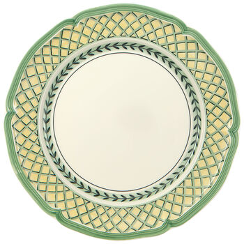 French Garden Orange Dinner Plate 10 1/4 in