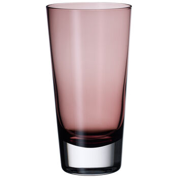 Colour Concept Highball Glass, Burgundy 6 1/4 in
