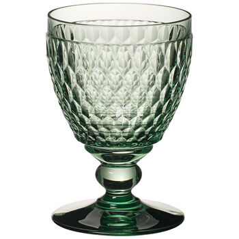 Boston Colored Goblet, Green 14 oz