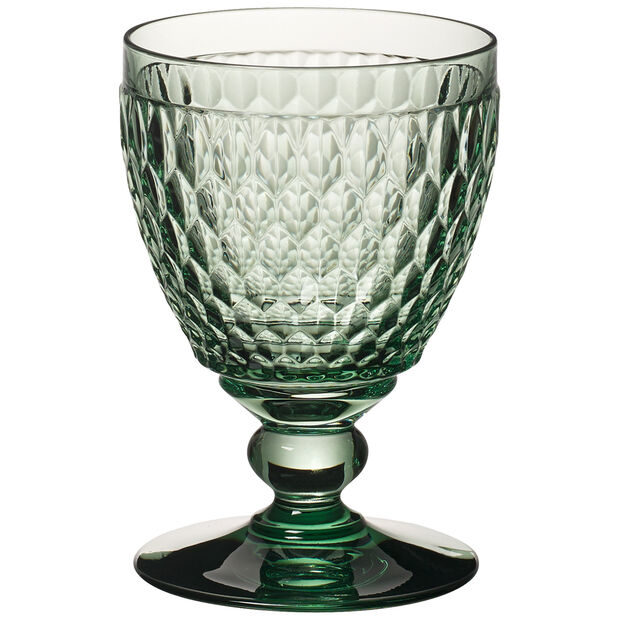 Boston Colored Goblet, Green 14 oz, , large