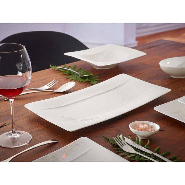 Modern Grace Serving Plate 17 1/2 x 9 in, , large