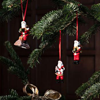 Nostalgic Ornaments Santa Claus Ornaments : Set of 3 3.5 in