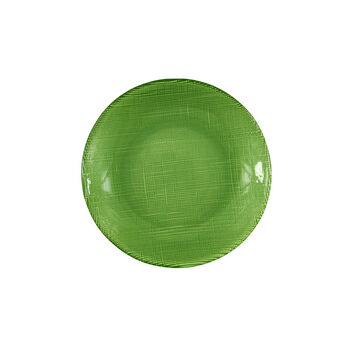Verona Glass Salad Plate, Green