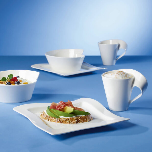 New Wave Square Salad Plate 9 1/4 x 9 1/4 in, , large