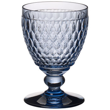 Boston Colored S/4 Goblet: Blue