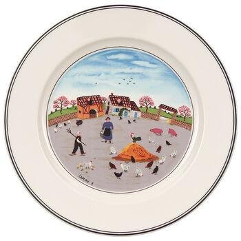 Design Naif Salad Plate #3 - Country Yard 8 1/4 in