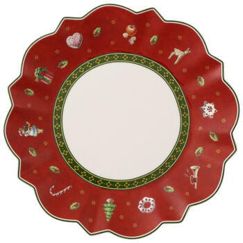 Toy's Delight Bread & Butter Plate : Red 6 1/2 in