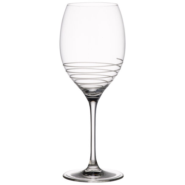 Maxima Decorated Bordeaux Spiral Goblet 10 in, , large