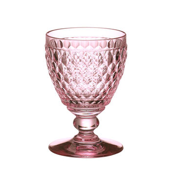 Boston Colored Goblet-Rose : Set of 4 14 oz