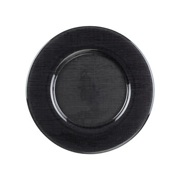 Verona Glass Charger, Black