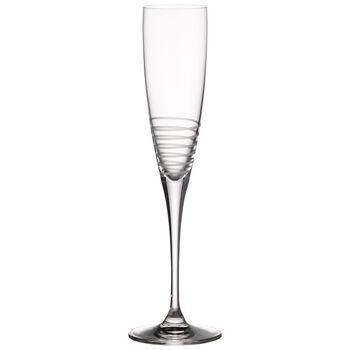 Maxima Decorated Champagne Flute, Spiral 10 1/2 in