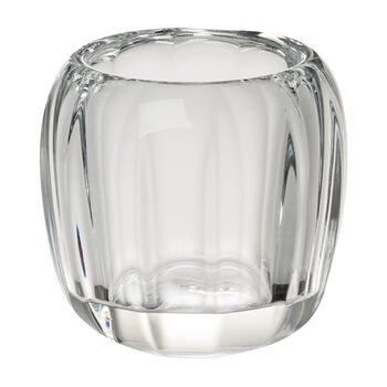 Coloured Delight  Small Tealight Holder : Clear 2.75 in