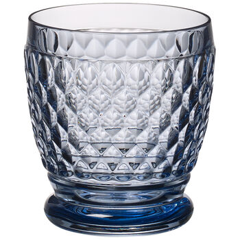 Boston Colored Double Old-Fashioned Glass, Blue